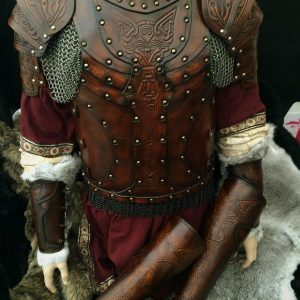 The Vendel wolf Full Set Leather LARP Armour