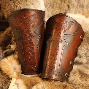 Vendel Raven SCA Leather Vambrace