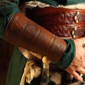 Huginn and Muninn LARP Leather Vambraces