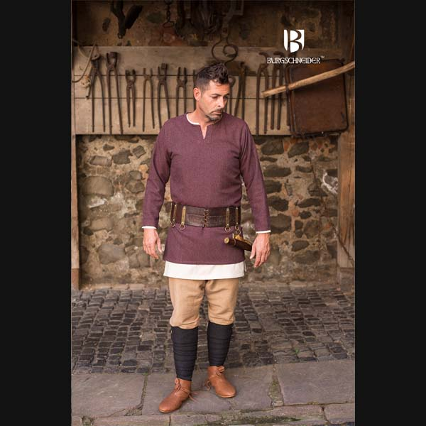 Herring Bone Woven Tunic Tyr Bordeaux grey 1