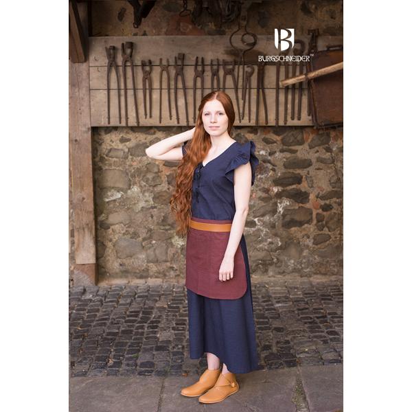 dress agga with apron blue 1