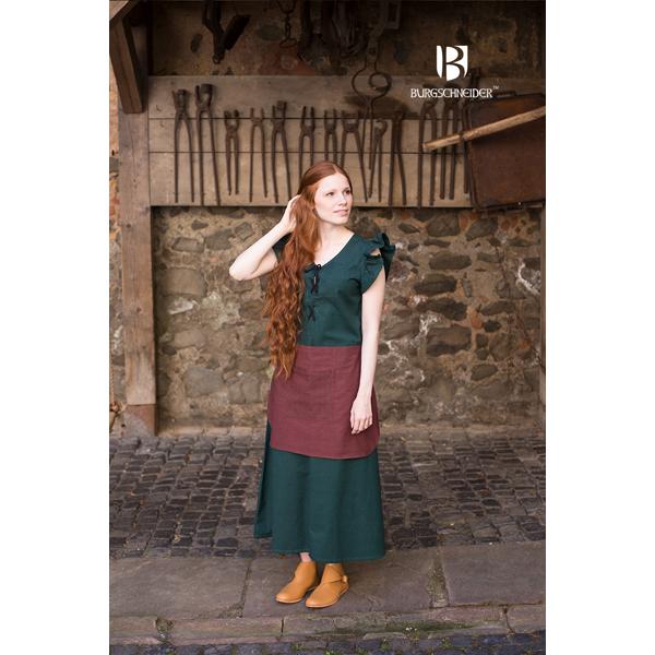 dress agga with apron green 2