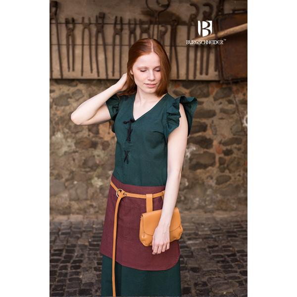 dress agga with apron green 3