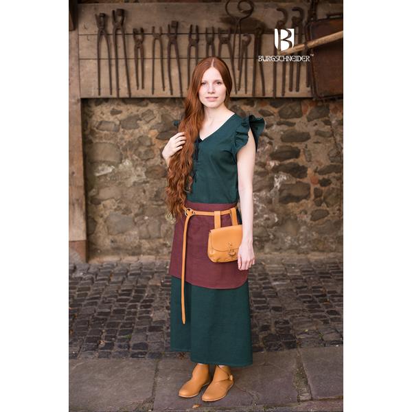 dress agga with apron green 1
