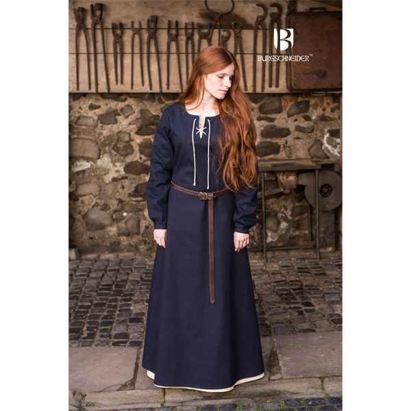 Medieval Dress Cilie Dark Blue 2