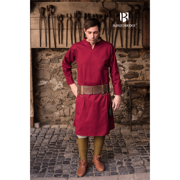 Medieval Tunic Ekwin Red 2