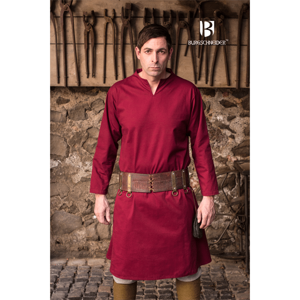 Medieval Tunic Ekwin Red 4