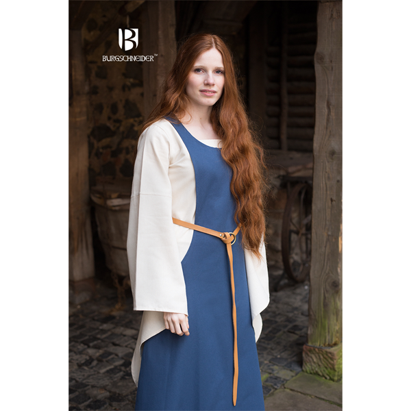 Surcot Isabella woad blue 3