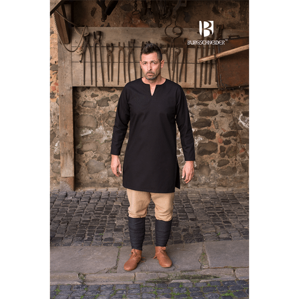 Medieval Undertunic Leif Black 1