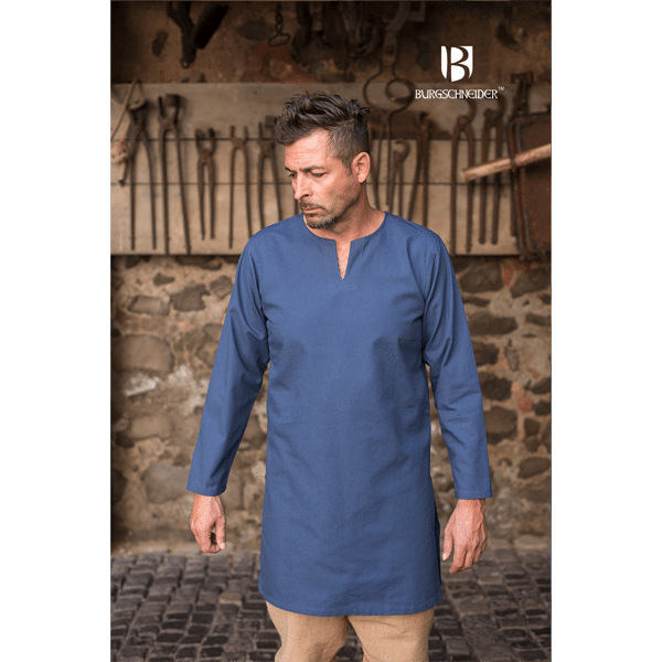 Medieval Undertunic Leif Woad Blue 2