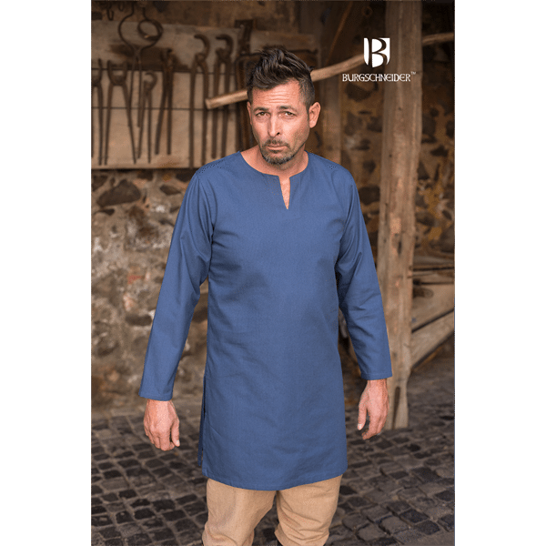 Medieval Undertunic Leif Woad Blue 3