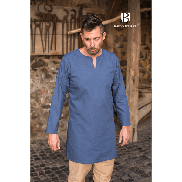 Medieval Undertunic Leif Woad Blue 1