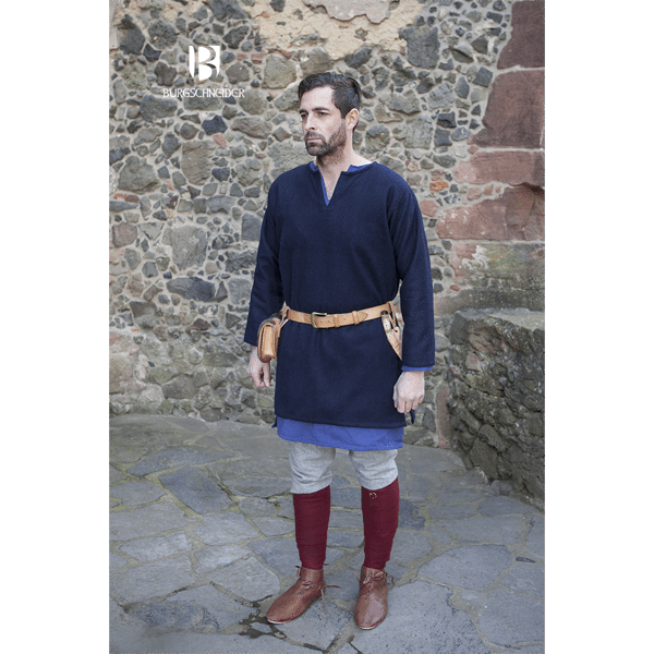 Medieval Wool Tunic Lodin Blue 2