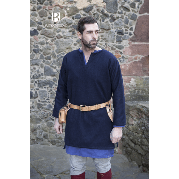 Medieval Wool Tunic Lodin Blue 3