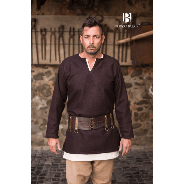Medieval Wool Tunic Lodin Brown 3