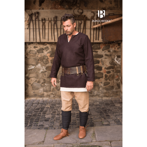 Medieval Wool Tunic Lodin Brown 1
