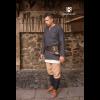Medieval Wool Tunic Lodin Dark Grey 3