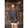 Medieval Wool Tunic Lodin Dark Grey 2