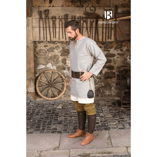Medieval Wool Tunic Lodin Gray 3