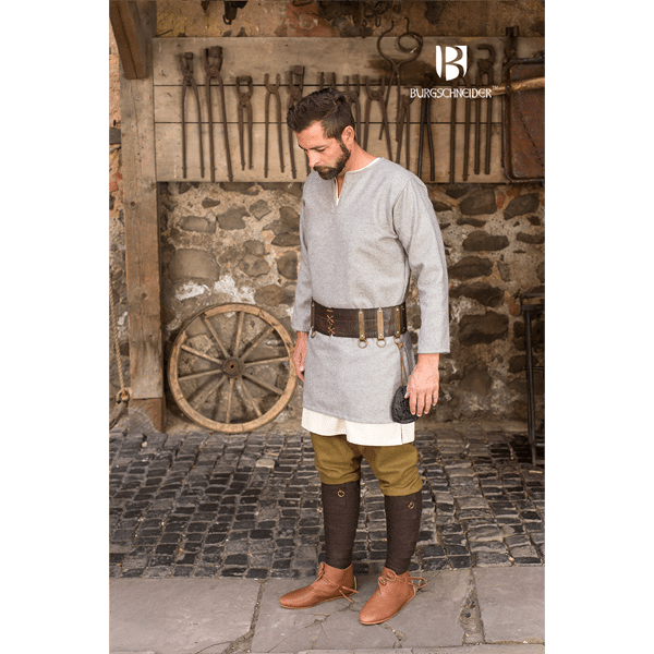 Medieval Wool Tunic Lodin Gray 1