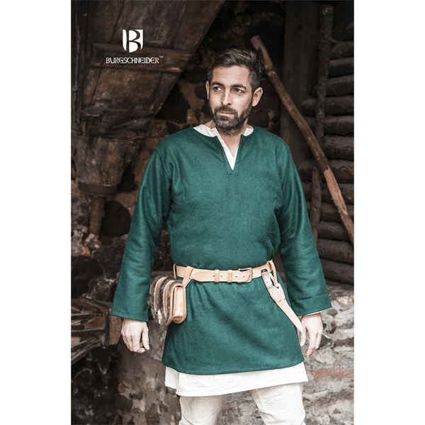 Medieval Wool Tunic Lodin Green 1