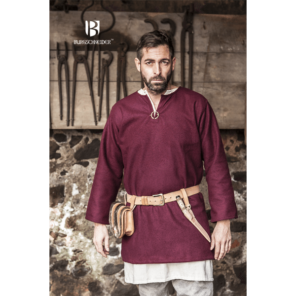 Medieval Wool Tunic Lodin Red 1