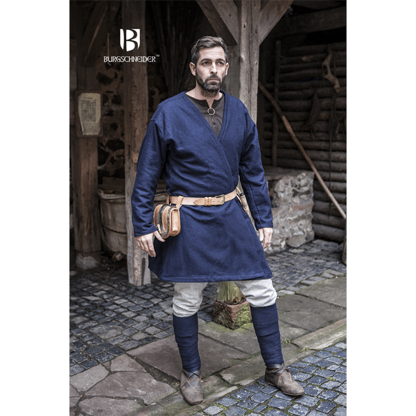 Viking Wool Coat Loki Blue 2