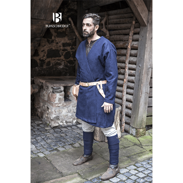 Viking Wool Coat Loki Blue 3