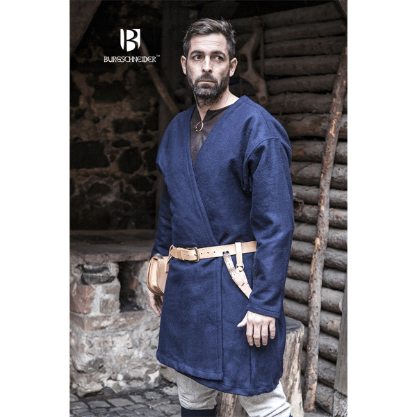 Viking Wool Coat Loki Blue 1