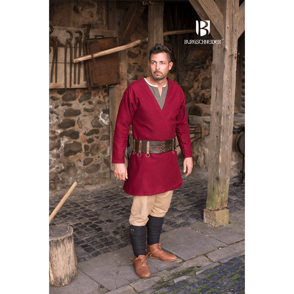 Viking Wool Coat Loki Red 2