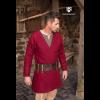 Viking Wool Coat Loki Red 3