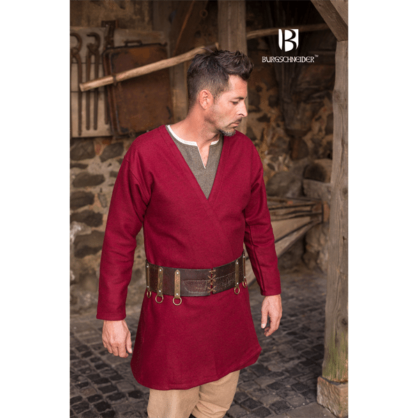 Viking Wool Coat Loki Red 3