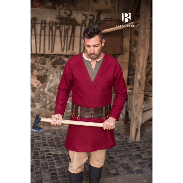 Viking Wool Coat Loki Red 1