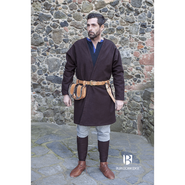 Viking Wool Coat Loki Brown 2