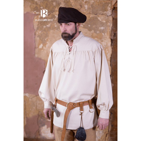 Medieval Laced Shirt Störtebecker natural 2