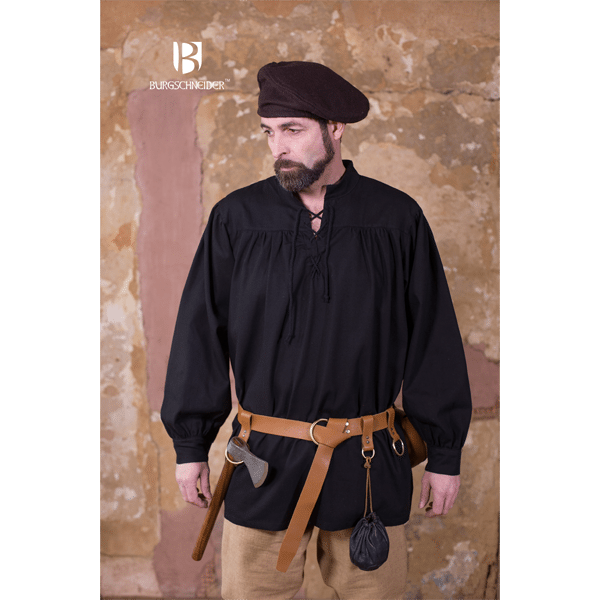 Medieval Laced Shirt Störtebecker Black 1