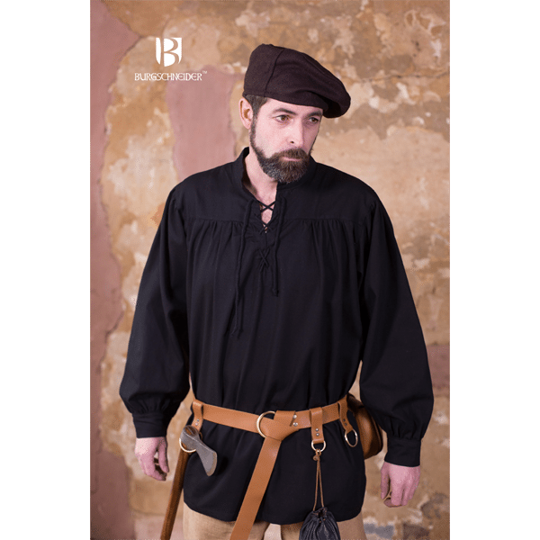 Medieval Laced Shirt Störtebecker Black 2