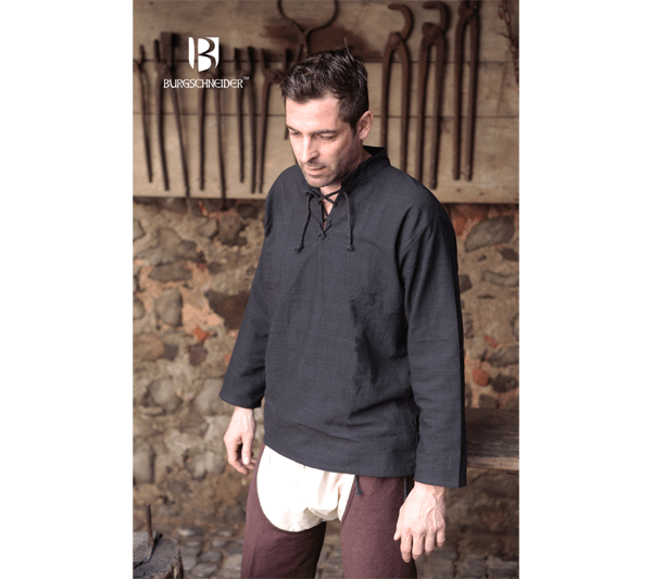 Medieval Shirt Tristan Black 1