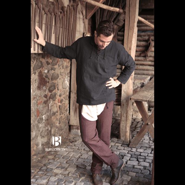 Medieval Shirt Tristan Black 2