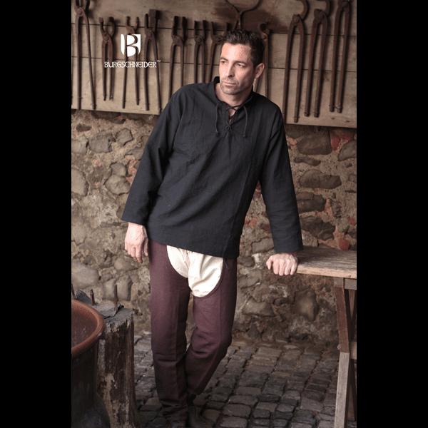 Medieval Shirt Tristan Black 3