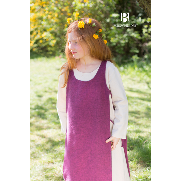 Medieval Childs Dress Ylva Lilac 3