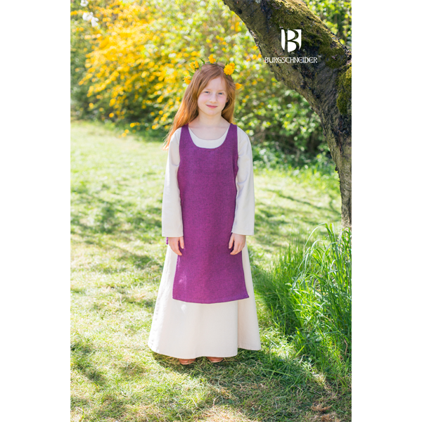 Medieval Childs Dress Ylva Lilac 1