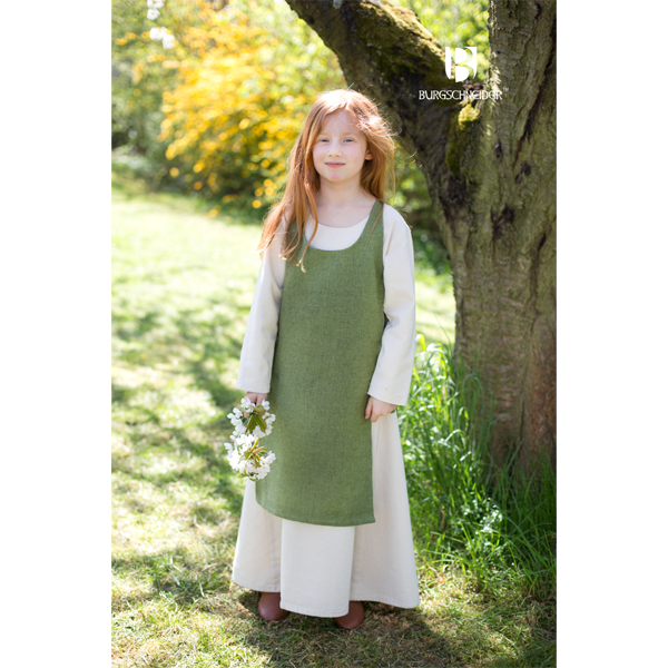 Medieval Childs Dress Ylva Linden Green 2
