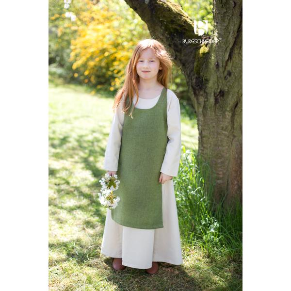 Medieval Childs Dress Ylva Linden Green 2