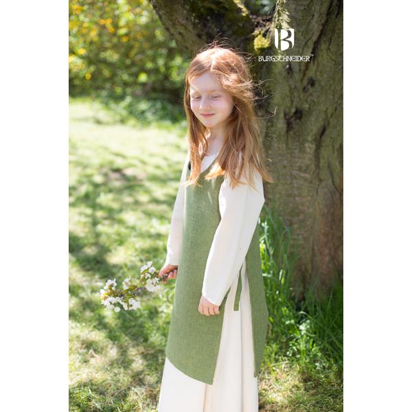 Medieval Childs Dress Ylva Linden Green 3