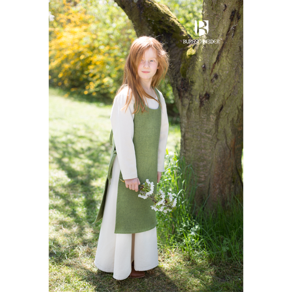 Medieval Childs Dress Ylva Linden Green 1