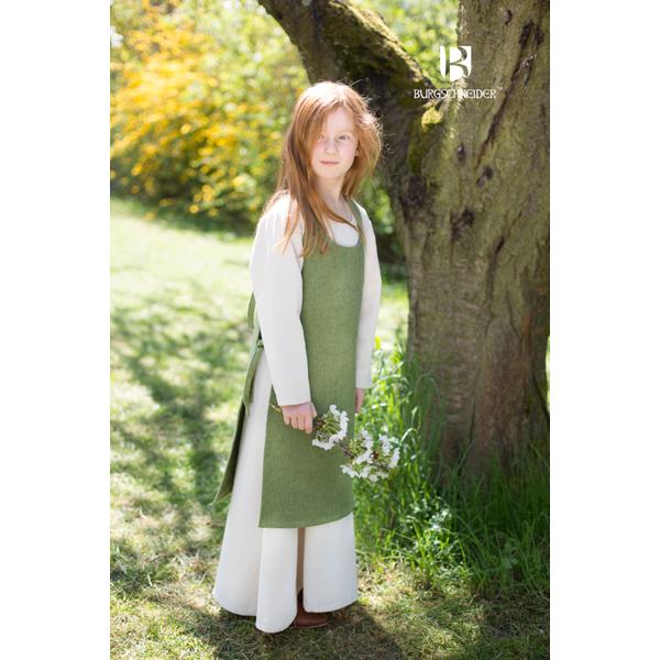 Medieval Childs Dress Ylva Linden Green 1