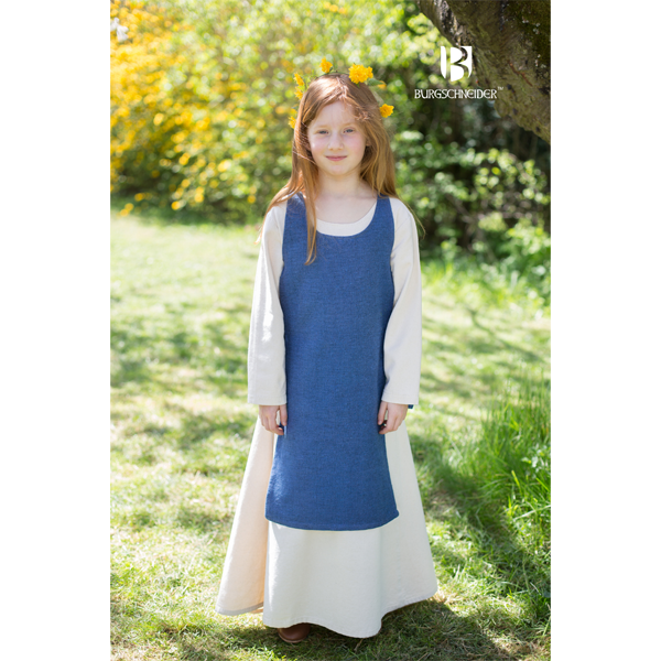 Medieval Childs Dress Ylva Ocean Blue 1