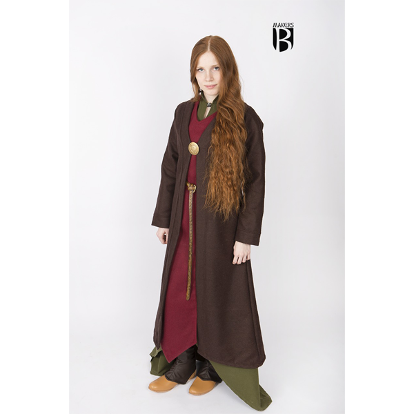 Birka Coat Aslaug Brown 2