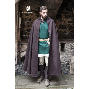 Hooded Medieval Cloak Hibernus – Ideal For LARP, SCA and Costume